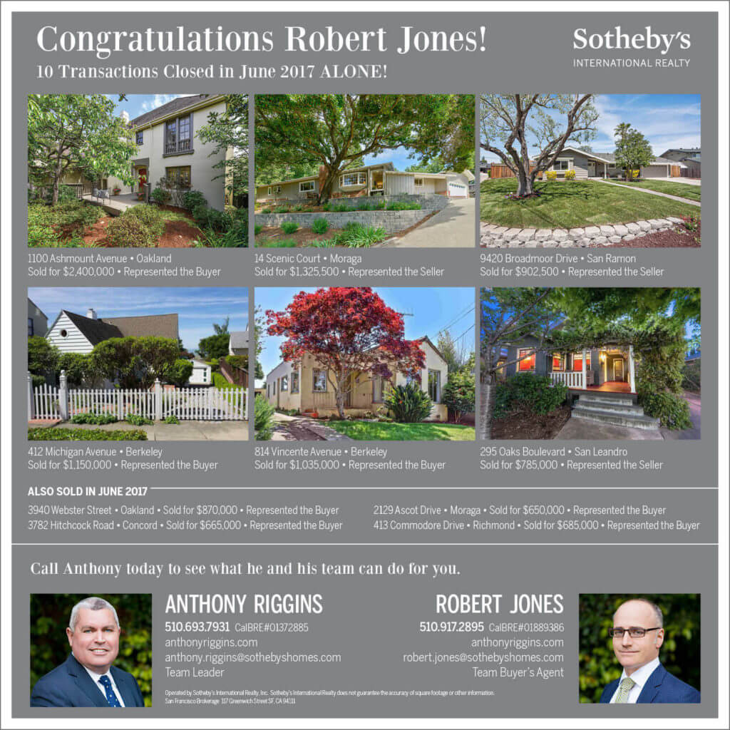 Congratulations Robert Jones